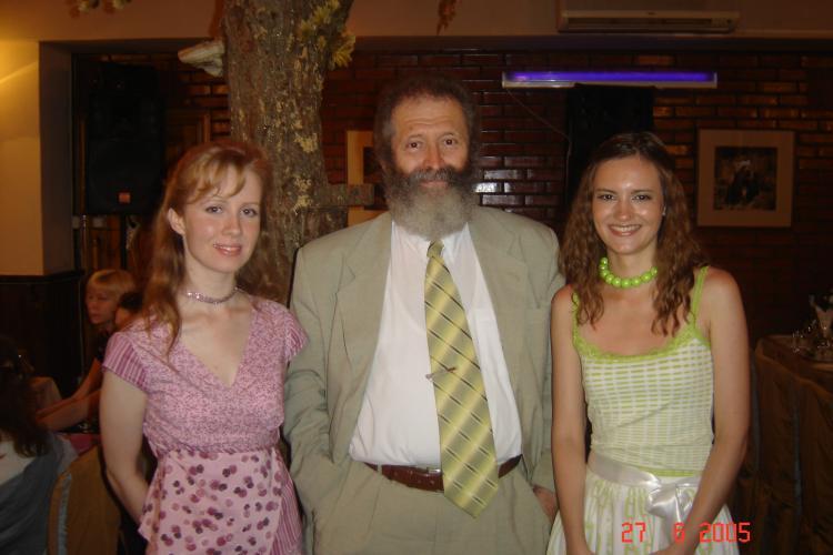 Катя и Лена с деканом